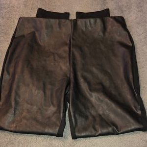 JustFab Faux leather and Ponte mix legging